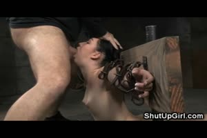Brutally Bound Teen Throatboarded Rough!