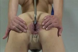 Anal Hooked Asian Slave